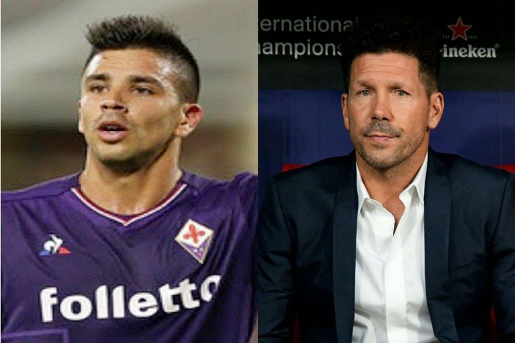 Anak: Giovanni Simeone, Bapa: Diego Simeone. - Foto AFP, fail