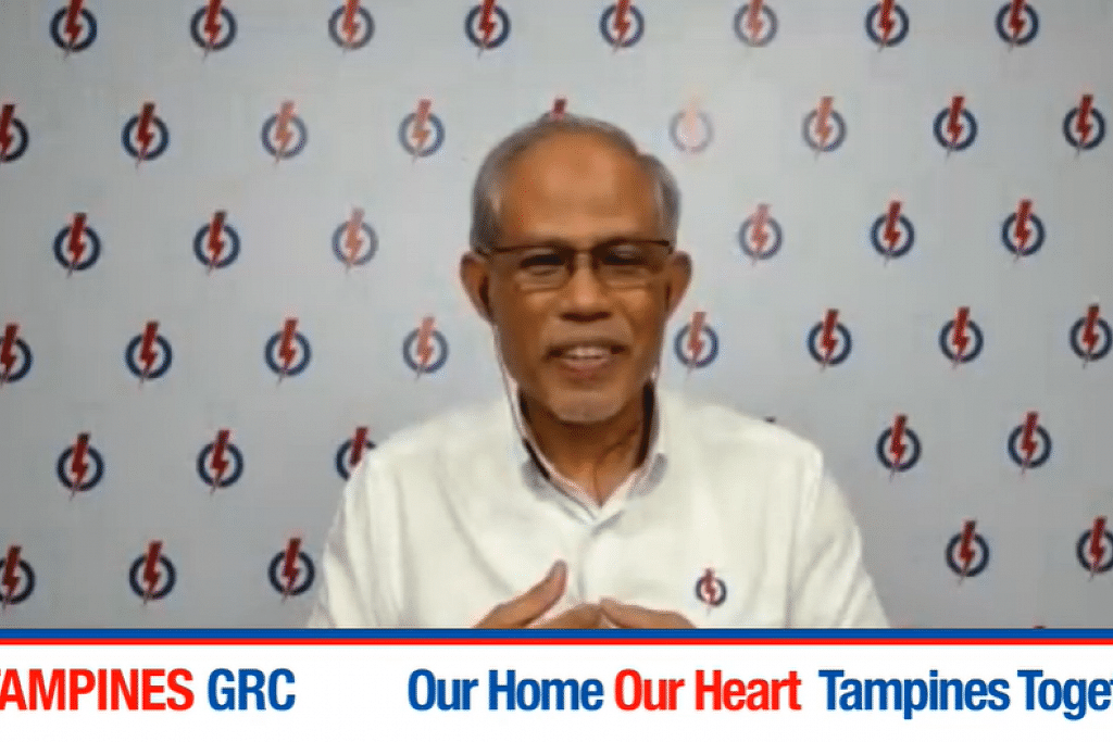 Menteri Sekitaran dan Sumber Air, Encik Masagos Zulkifli Masagos Mohamed, semasa berucap dalam perhimpunan dalam talian bagi pasukan PAP di GRC Tampines yang diadakan di Facebook GRC itu pada Selasa (30 Jun). - Foto Facebook PAP Tampines GRC
