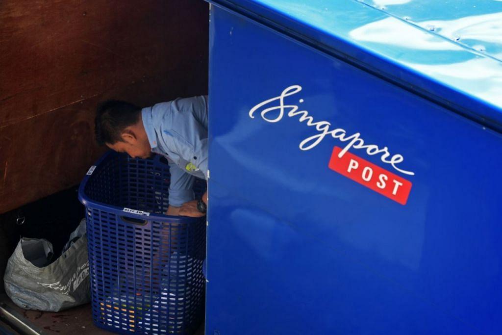 MENINGKAT: Pendapatan kumpulan SingPost meningkat 12 peratus kepada $360 juta untuk suku fiskal pertama yang berakhir 30 Jun 2020. – Foto BH oleh KUA CHEE SIONG