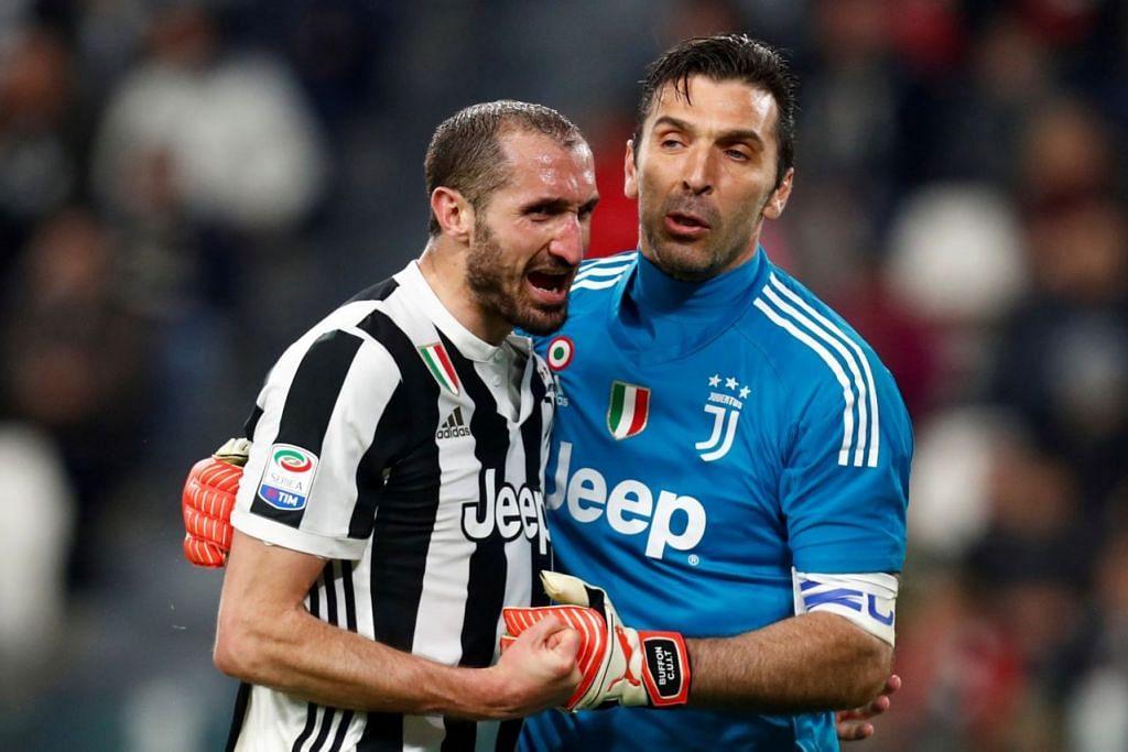 PERTAHANAN BAIK: Giorgio Chiellini merupakan legenda Juventus dan pemain pertahanan Italy ini sedang memasuki penghujung kerjayanya pada usia 35 tahun, dan telah memenangi kejuaraan demi kejuaraan dengan kelab Juventus. - Foto-foto AFP, REUTERS, EPA-EFE