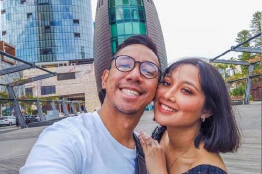 BAHAGIA BERSAMA ISTERI: Sufi Rashid dan isterinya, Nurulain Md Yusof, kini menetap di Malaysia dan belum dapat pulang bertemu dengan keluarga dan sanak saudara di Singapura. - Foto IG SUFI RASHID