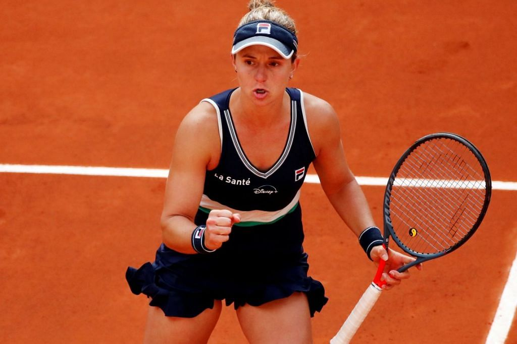 NAMA SEDANG NAIK: Nadia Podoroska tidak begitu dikenali ramai sebelum Terbuka Perancis tahun ini. Namun beliau kini lebih dikenali selepas menunjukkan persembahan yang cemerlang dalam kejuaraan Grand Slam itu.