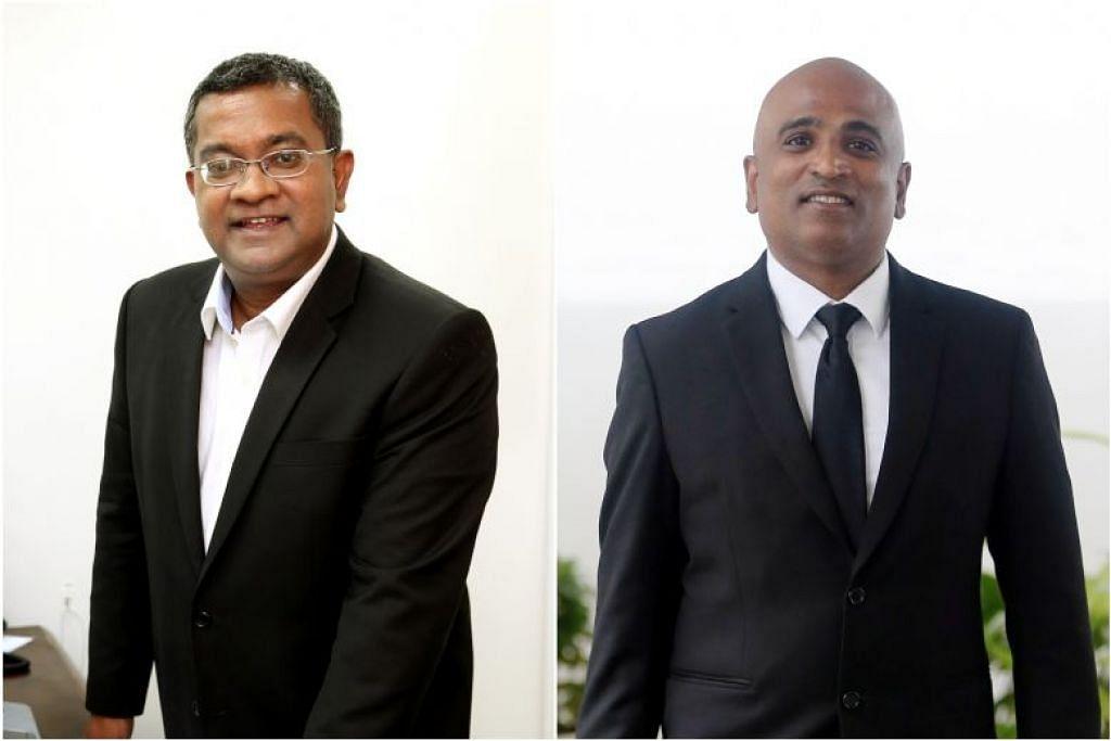 Encik Eugene Thuraisingam (kiri) dan Encik M. Ravi