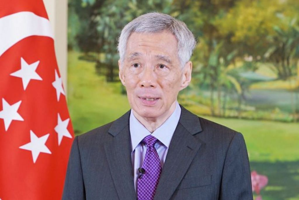 Perdana Menteri Lee Hsien Loong (gambar atas).