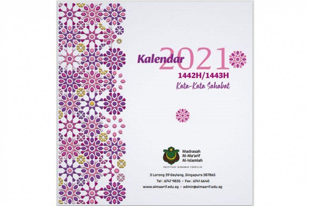 USAHA KUMPUL DANA: Orang ramai boleh membeli Kalendar Al-Ma'arif 2021 sama ada jenis kalendar dinding ataupun kalendar meja. - Foto MADRASAH AL-MA'ARIF AL-ISLAMIAH