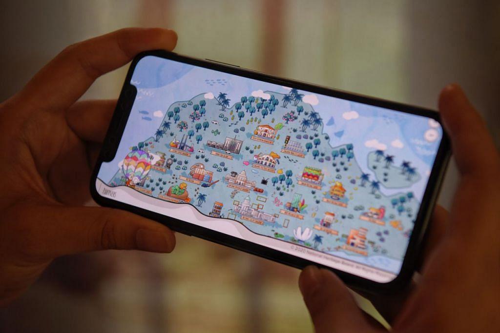 MENCARI AI: Kanak-kanak berpeluang bergambar dengan Ai, watak kartun, di laman Pusat Warisan Melayu (MHC) dan mencari Ai melalui permainan Ai Love Museums: Hide-N-Seek dalam talian atau melalui telefon bimbit (gambar atas). - Foto MARK CHEONG
