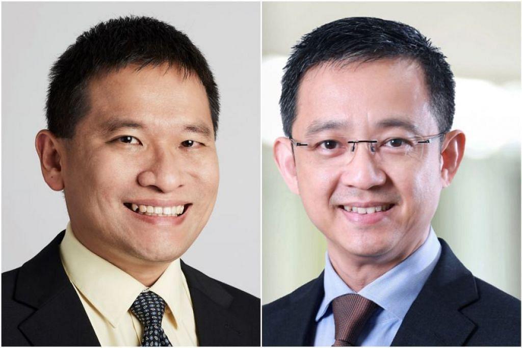 Encik Luke Goh (kiri) akan menjadi ketua eksekutif NEA, manakala Encik Tan Meng Dui akan menjadi ketua eksekutif HDB. - FOTO-FOTO: NEA, MSE