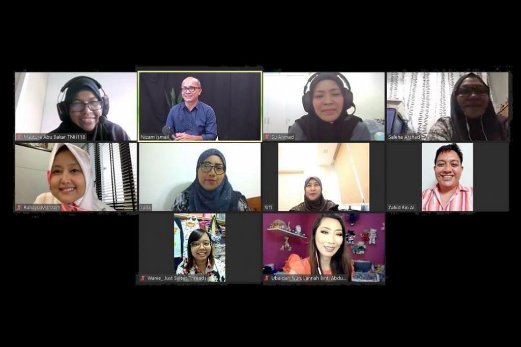 KELUHAN PENIAGA DARI RUMAH: Seramai 13 peniaga dari rumah telah menghadiri satu sesi dialog menerusi Zoom petang semalam, anjuran Berita Harian (BH) dan dihadiri oleh Setiausaha Parlimen (Kesihatan), Cik Rahayu Mahzam. - Foto BH oleh HARITH MUSTAFFA