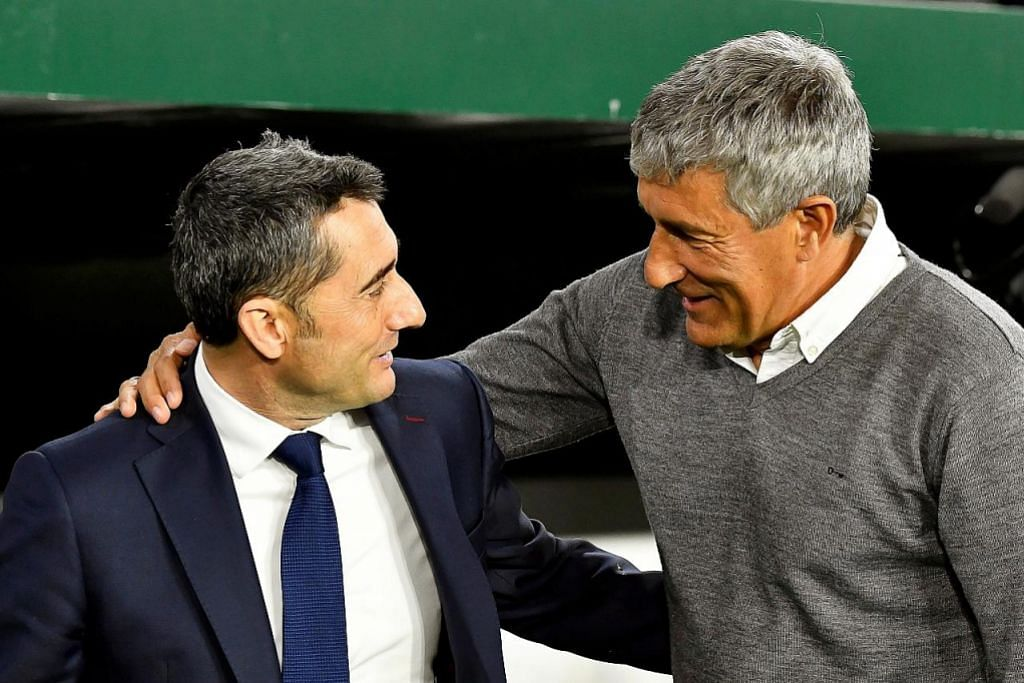 BOLA SEPAK LIGA SEPANYOL Barca pecat Valverde, lantik Setien