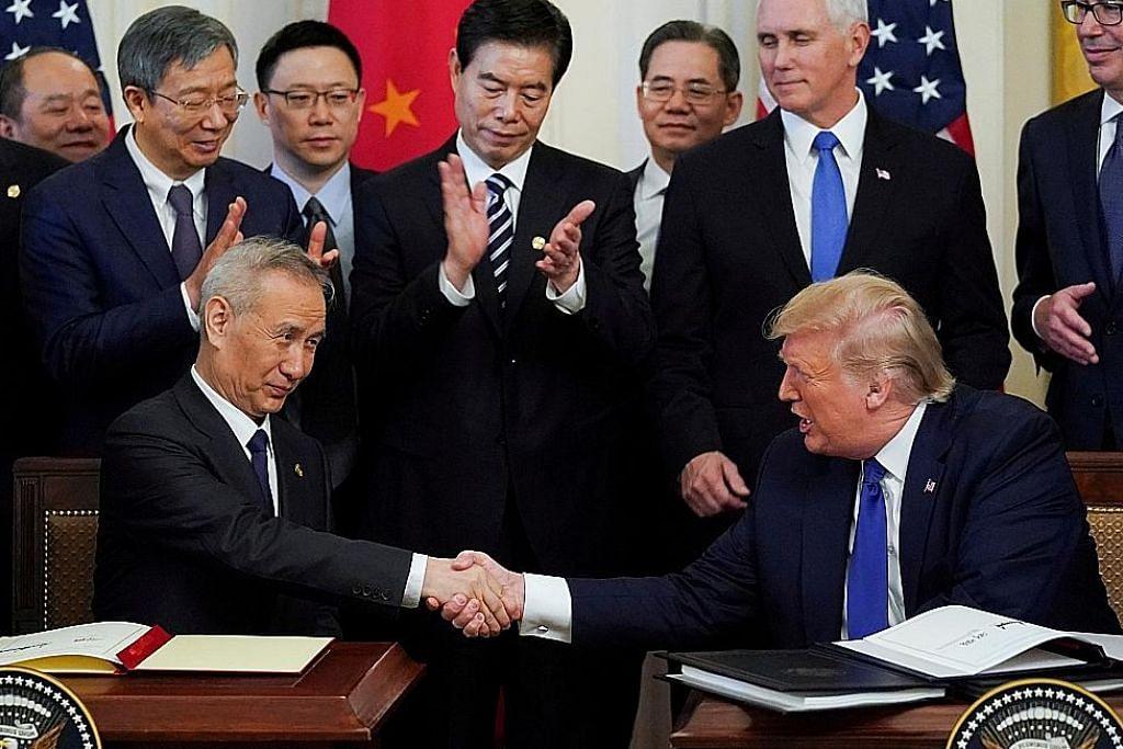 Amerika, China meterai perjanjian dagangan tahap pertama