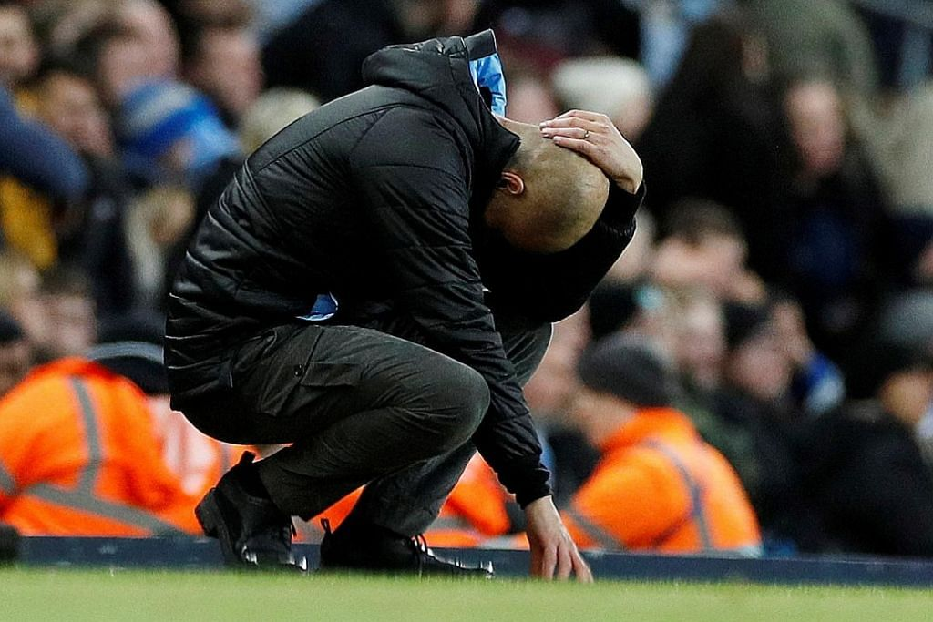 BOLA SEPAK ENGLAND Guardiola: Mahkota liga di luar jangkauan