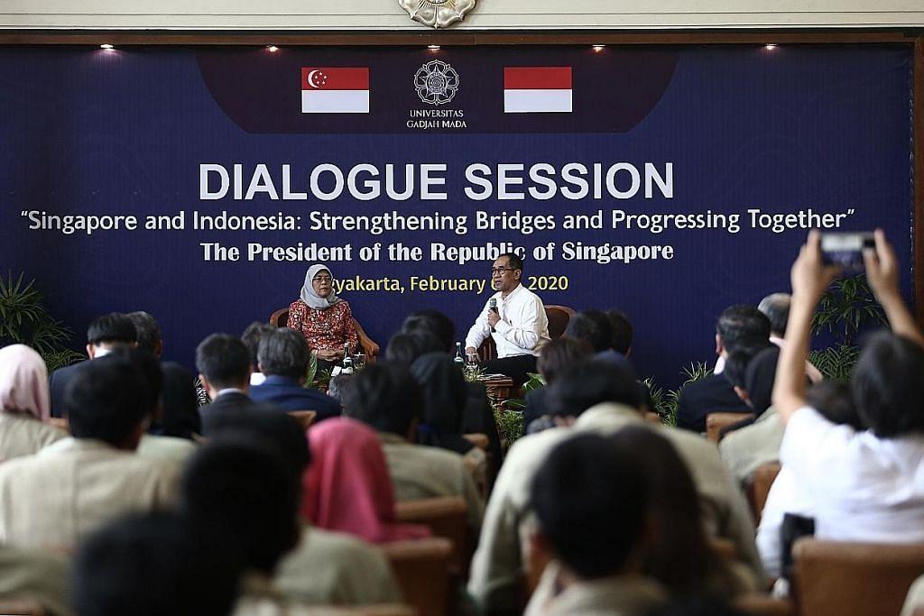 LAWATAN RASMI PRESIDEN KE INDONESIA Presiden Halimah: Peluang kerjasama ekon digital S'pura, Indonesia luas