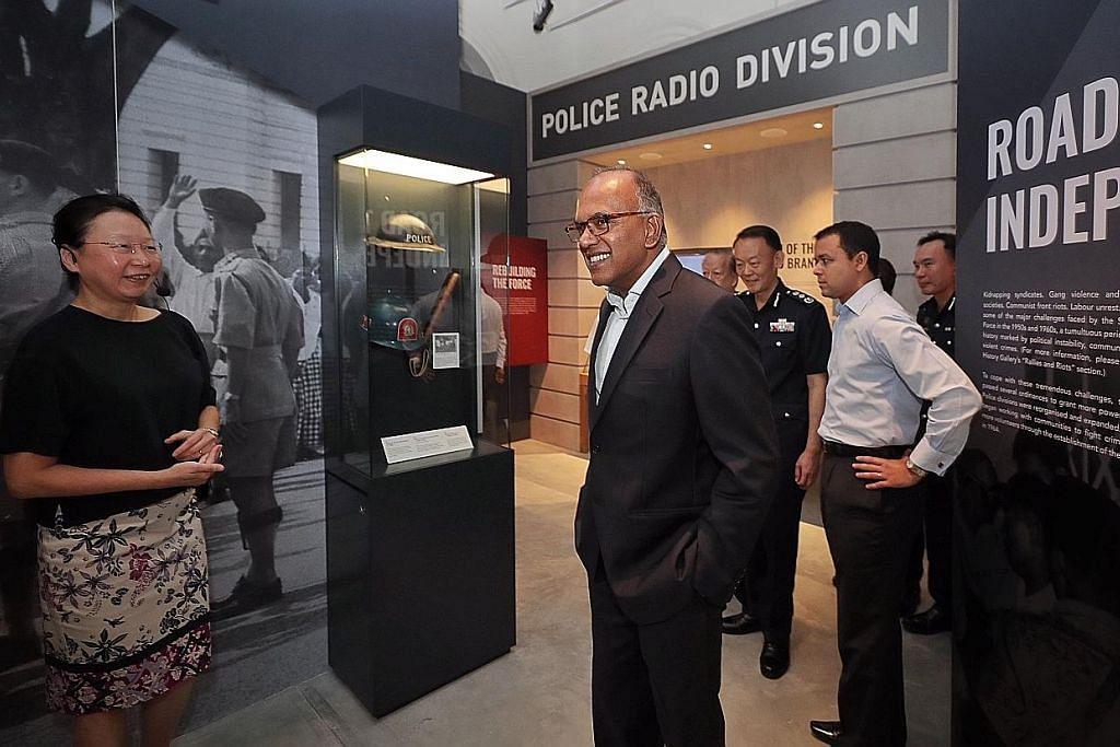 Pameran sejarah 200 tahun polis S'pura jaga keamanan negara