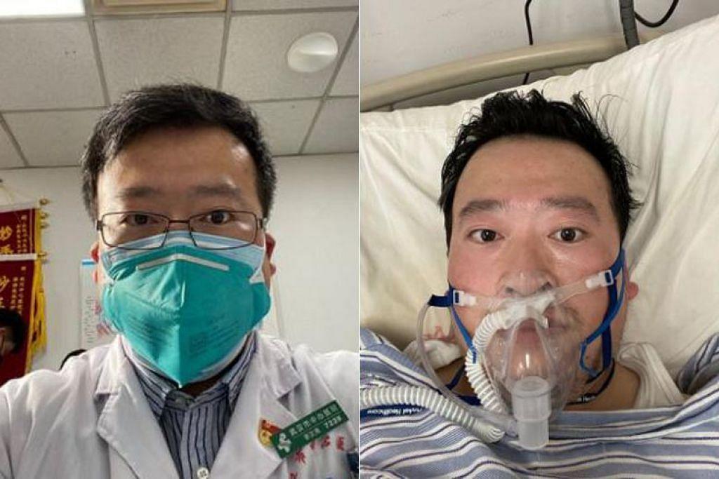BERI AMARAN: Dr Li Wenliang telah memberi amaran kepada rakan kerjanya tentang kelompok penyakitmembimbangkan yang menyerupai Sars,