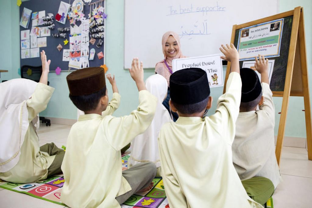 CEGAH WABAK: Madrasah aLIVE di masjid setempat telah melaksanakan langkah berjaga-jaga demi mencegah wabak koronavirus baru.