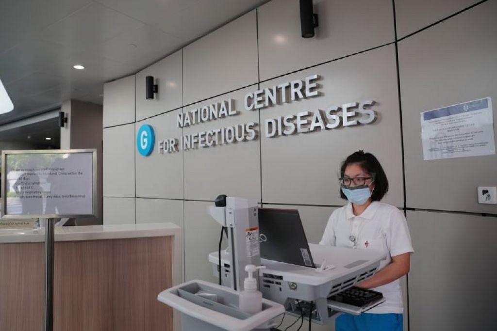 PESAKIT DIASINGKAN: Beberapa kes koronavirus di Singapura kini berada di bilik pengasingan di NCID.