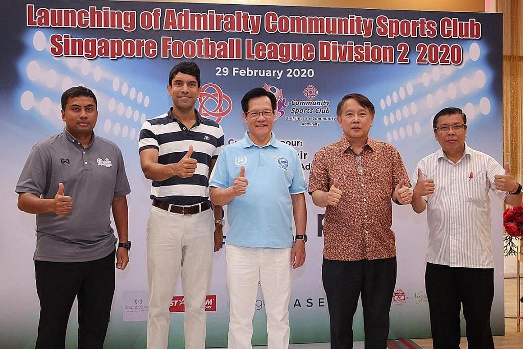 'Semangat kampung' semarak cabaran Admiralty CSC PERSIAPAN LIGA BOLA SEPAK SINGAPURA (SFL) DIVISYEN 2