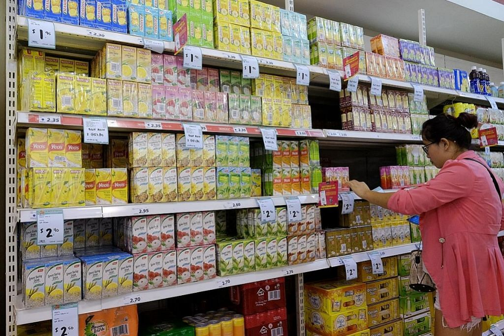 Minuman ringan diberi label kandungan gula Gred A hingga D
