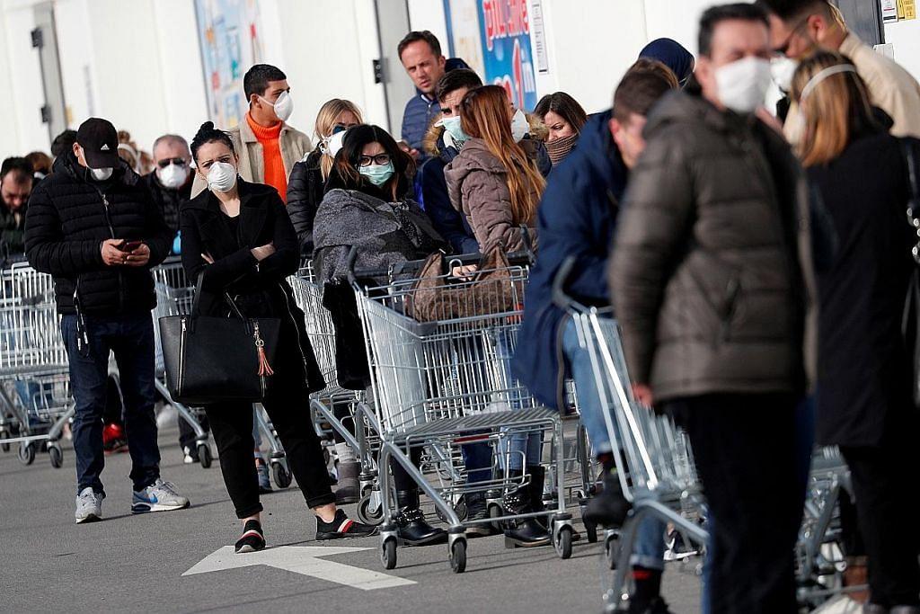 Covid-19: Italy dilanda kebimbangan, ekonomi terjejas