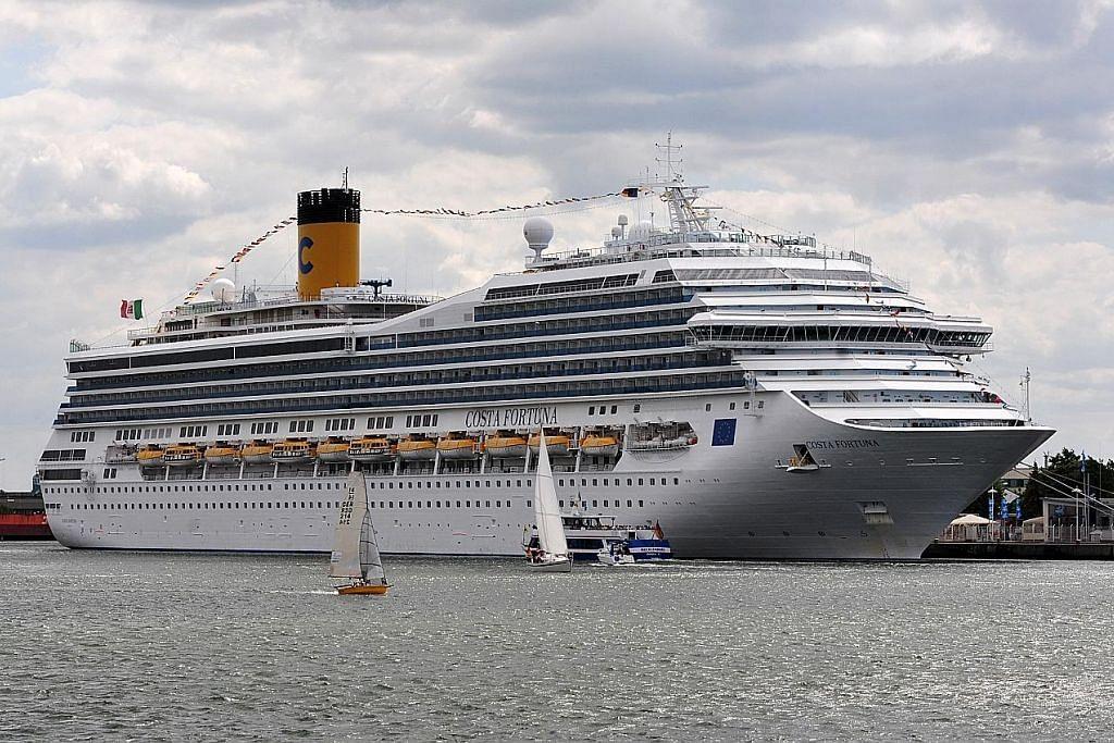 Kapal persiaran Italy dibenar berlabuh di S'pura ikut jadual