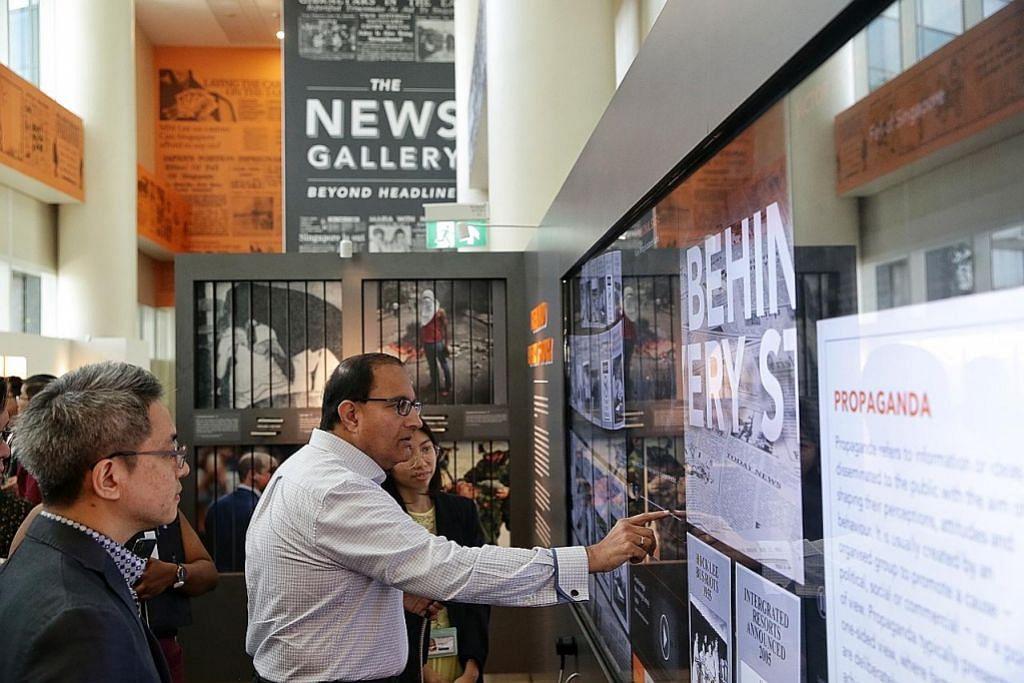 Pameran papar sejarah S'pura melalui kaca mata media