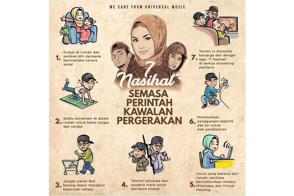 Siti Nurhaliza beri nasihat harungi Covid-19 melalui poster
