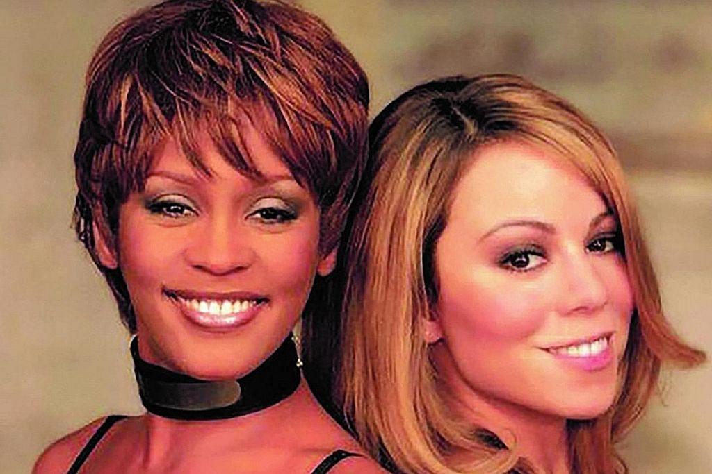 JADI 'HIT': Lagu 'When You Believe' nyanyian Whitney Houston (kiri) dan Mariah Carey, menjadi lagu 'hit' di beberapa negara termasuk Filipina, Israel, Sepanyol, Sweden dan Switzerland. - Foto TBS NET