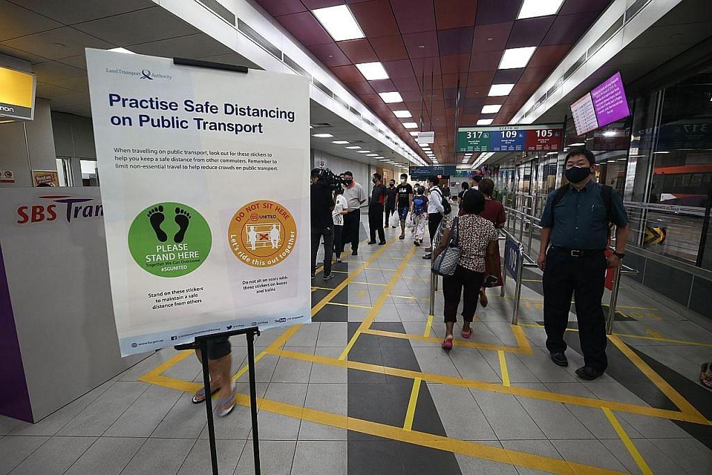 Panduan visual bantu penumpang bas, MRT