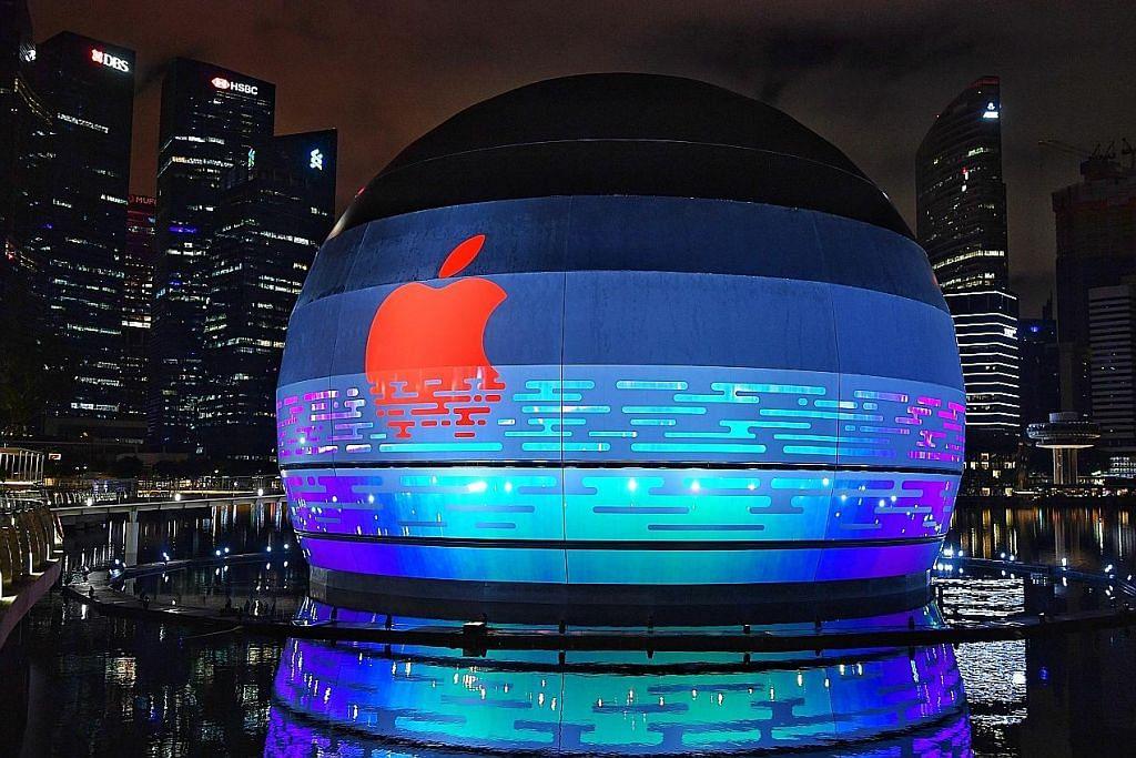 Cawangan Apple 'terapung' yang pertama di dunia bakal dibuka di Marina Bay Sands