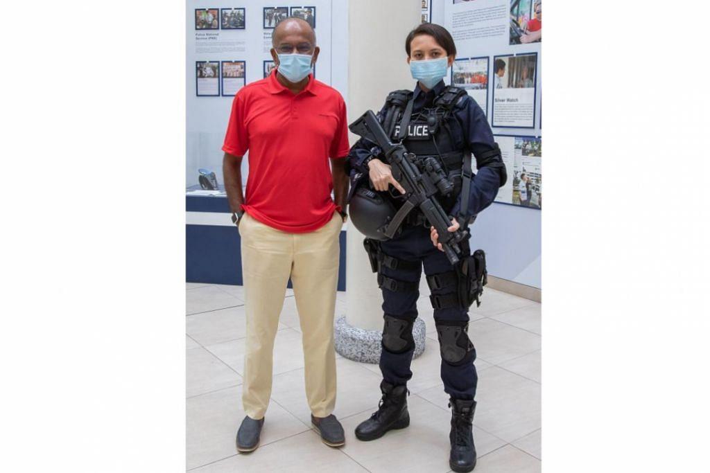 BERBAKTI KEPADA NEGARA: Encik Shanmugam berkata pegawai polis wanita seperti SSS Hazwani memainkan peranan penting dalam menjadikan Singapura antara negara paling selamat di dunia. - Foto K. SHANMUGAM / FACEBOOK