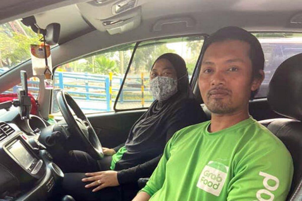 IKHLAS MEMBANTU: Encik Jamaludin Mohamed Talib dan isteri Cik Norfadilla Ahmat Jaafar telah menawarkan bantuan menghantar wanita hendak bersalin yang tidak dikenali ke hospital apabila melihatnya dalam kesakitan. – Foto FACEBOOK