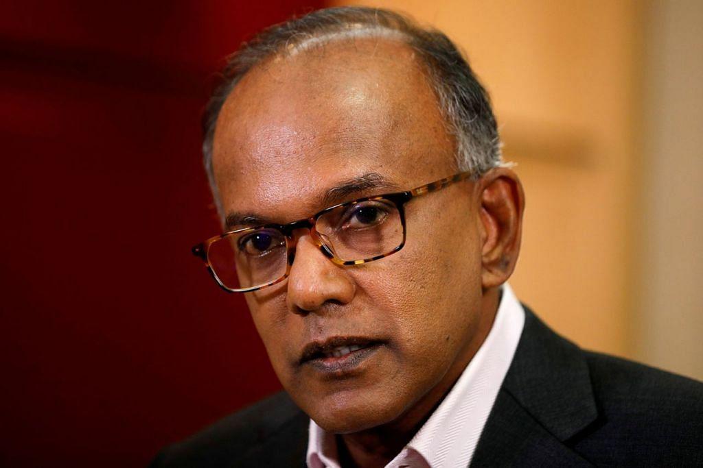 Encik K. Shanmugam, Menteri Undang-Undang merangkap Ehwal Dalam Negeri.