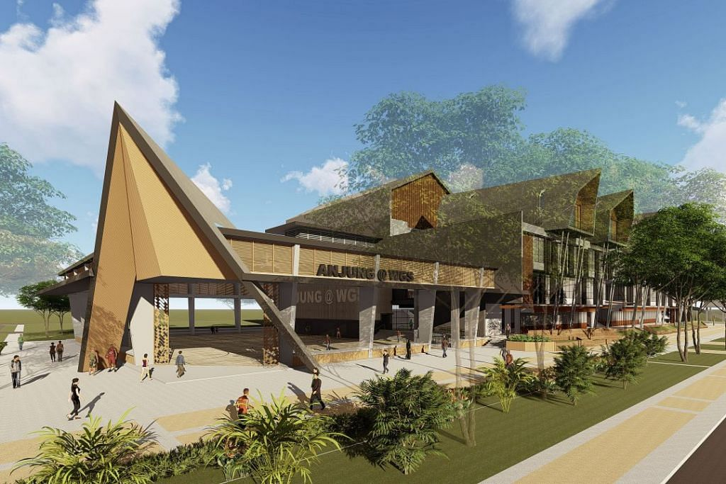 Artist's impression of the sheltered hardcourt, ANJUNG@WGS which is targeted to be completed in Q12022.