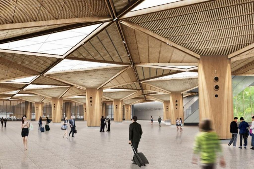 Stesen RTS Woodlands North akan mempunyai tiga tingkat, termasuk dua aras besmen.