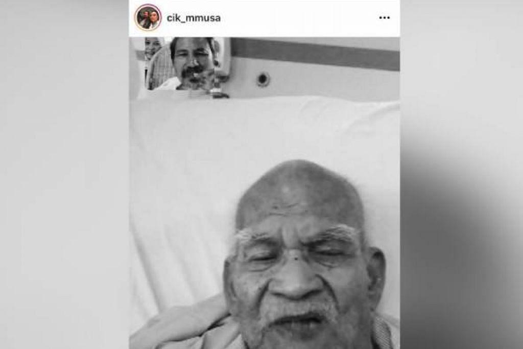 KEHILANGAN AYAH: Datuk M. Nasir tidak dapat melawat jenazah ayahnya, Encik Mohamed Sam (dalam foto), yang meninggal dunia pada pagi Khamis (28 Januari), kerana sekatan kembara Covid-19. - Foto ini dimuatnaikkan isteri Nasir, Datin Marlia Musa di Instagramnya. - Foto INSTAGRAM DATIN MARLIA MUSA