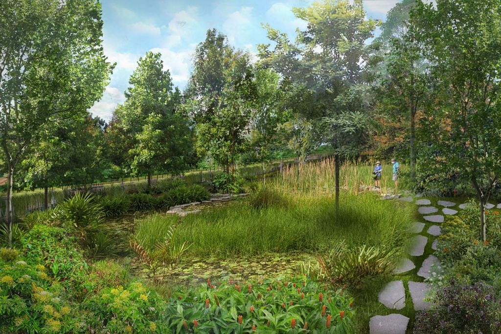 Contoh sebuah taman seluas 7.6 hektar yang akan dibina dekat Upper Thomson menjelang 2024. -