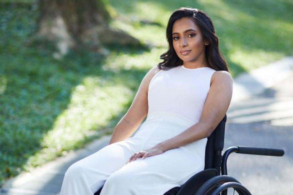 MAHU WAKILI WANITA KURANG UPAYA: Cik Fathima Zohra mengetengahkan ketidakupayaannya kerana tahu betapa sukarnya bagi masyarakat untuk menerima tubuh yang kurang berupaya dan mahu memastikan wanita kurang upaya diwakili dengan lebih baik.