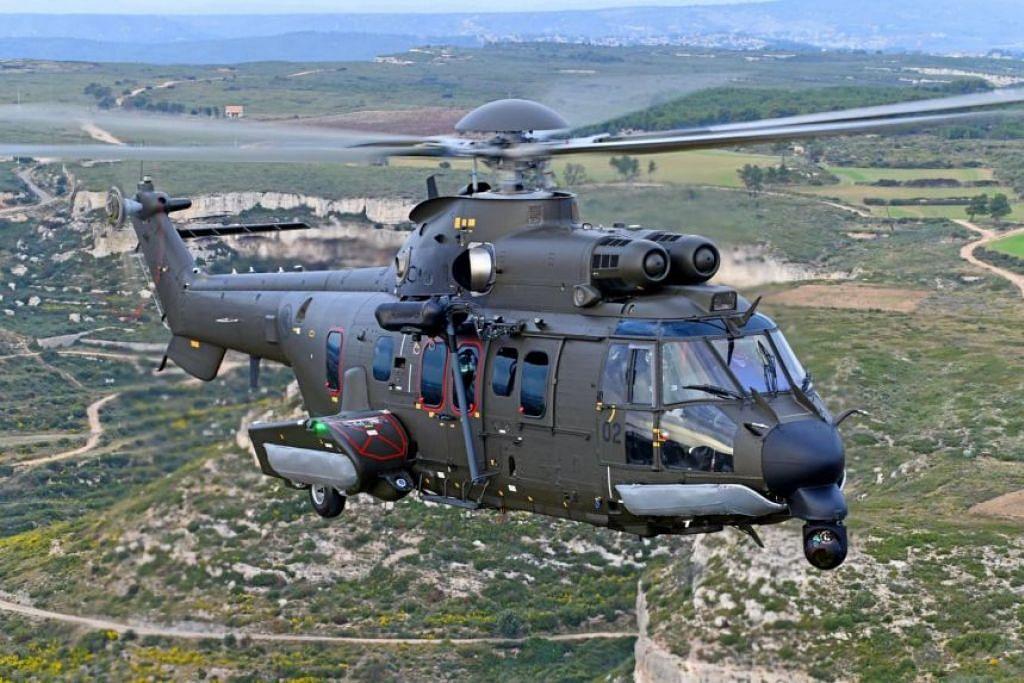 TIGA HELIKOPTER BARU: RSAF akan menerima penyerahan dan kiriman beberapa helikopter baru H225M bagi menggantikan Super Puma yang berkhidmat sejak 1983. - Foto FACEBOOK RSAF