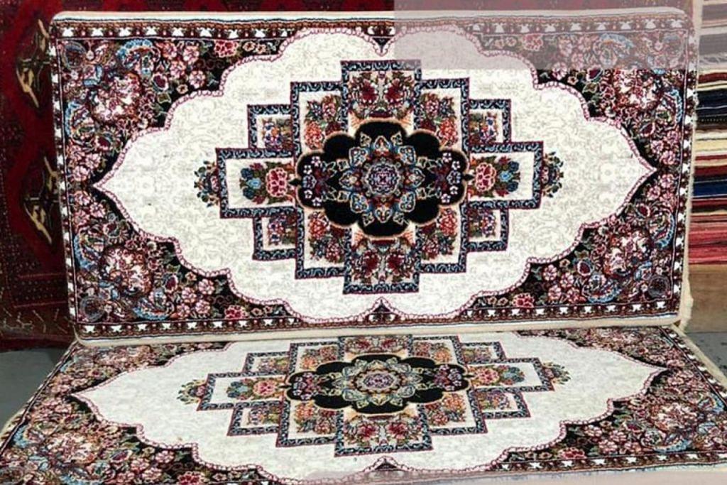 BERMUTU: Tabriz Carpets menyediakan produk seperti permaidani, sarung bantal dan pelbagai hiasan rumah. – Foto TABRIZ CARPETS PTE LTD