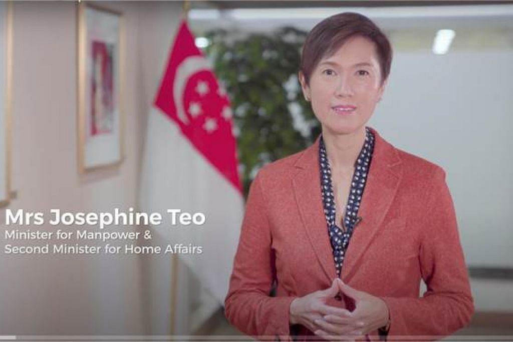 INGIN LIBATKAN DIRI LEBIH AKTIF LAGI: Cik Josephine Teo yang mewakili Singapura mengumumkan tentang hasrat negara ini tampil mencalonkan diri sebagai anggota Suruhanjaya Dadah Narkotik (CND), badan penggubal dasar tentang dadah di Pertubuhan Bangsa-Bangsa Bersatu (PBB). - Foto MHA