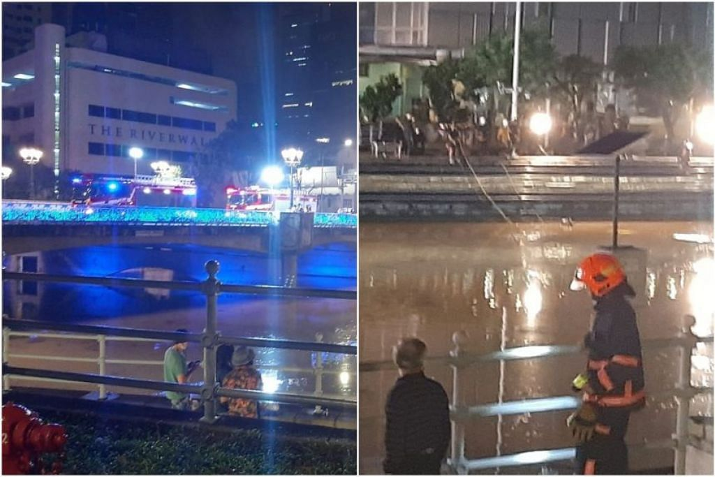 DUA MAYAT DITEMUI: Polis masih lagi menyiasat kejadian dinihari Ahad (18 April) di Sungai Singapura di mana mayat dua lelaki ditemui. - Foto FACEBOOK RUDY FERRAGAMO