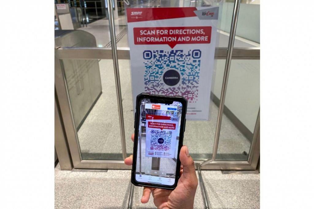"""KHIDMAT CONCIERGE DIGITAL: Kod QR """"Scan & Go-To"""" yang disediakan adalah perkhidmatan concierge digital bagi penumpang dapatkan maklumat perjalanan dengan mudah. - Foto SMRT"""