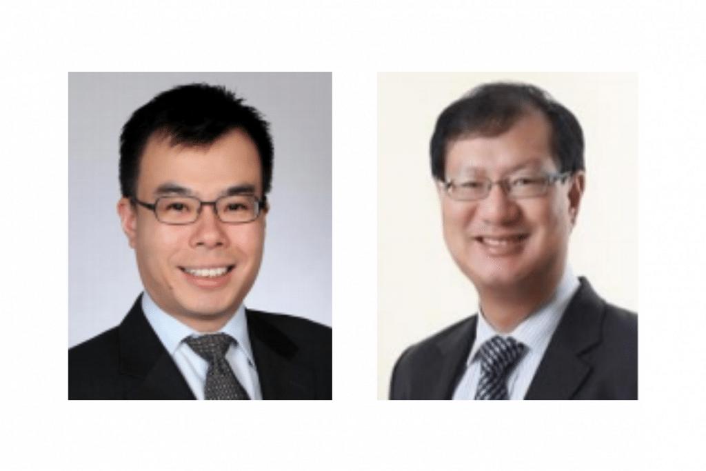 Encik Han (kiri) akan menggantikan Encik Shum (kanan) sebagai ketua pengarah Penguasa Penerbangan Awam Singapura (CAAS) mulai 2 Ogos ini. - Foto MOT