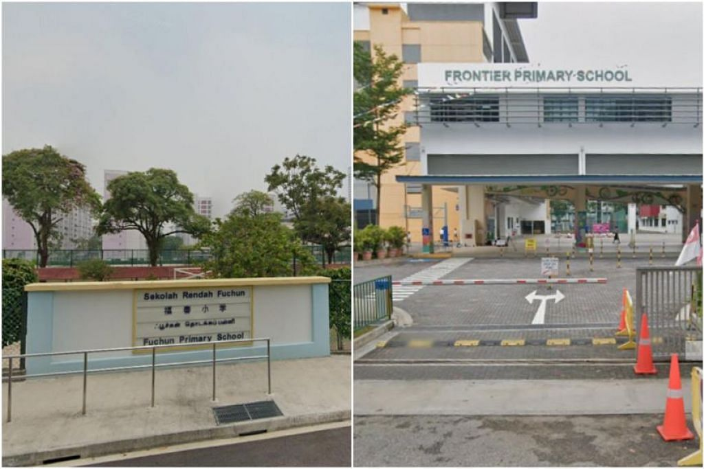 Sekolah Rendah Fuchun dan Sekolah Rendah Frontier telah beralih ke HBL setelah murid dan guru di situ diuji positif Covid-19. - Foto TANGKAP LAYAR GOOGLE MAPS