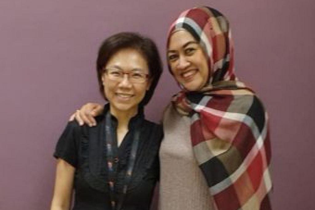 SEMAKIN SIHAT: Cik Suriani bergambar bersama Dr Tham yang membantunya menurunkan berat badan sebanyak 30 kilogram. - Foto SGH