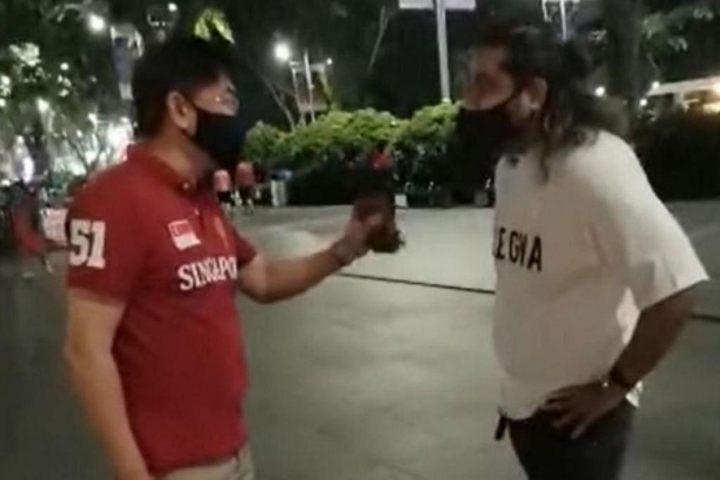 VIDEO TULAR: Seorang lelaki Cina mempersoal seorang lelaki India yang menjalin hubungan dengan wanita Cina. - Foto TANGKAP LAYAR FACEBOOK DAVE ASH PARKER