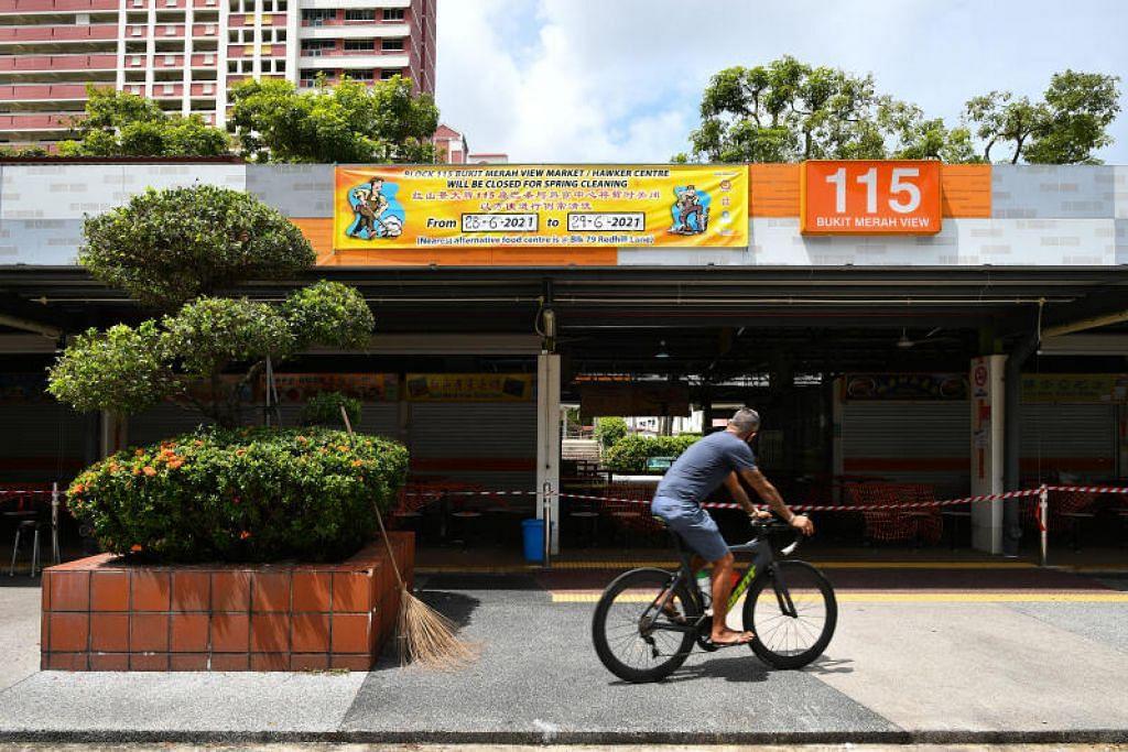 Kelompok Pusat Makanan dan Pasar 115 Bukit Merah View kini mempunyai enam kes yang dikaitkan dengannya.