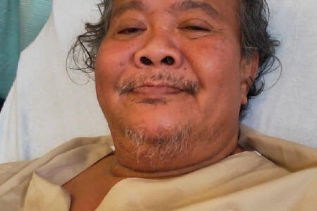 Alias Kadir kini telah kehilangan kedua-dua belah kakinya. - Foto ihsan Jumaat Azhar