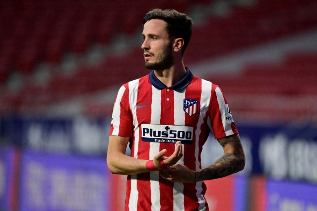 TAK JADI KE BARCA: Bintang Atletico Madrid Saul Niguez mungkin ke England, dengan Man U dan Liverpool dikatakan antara yang meminatinya. - Foto AFP