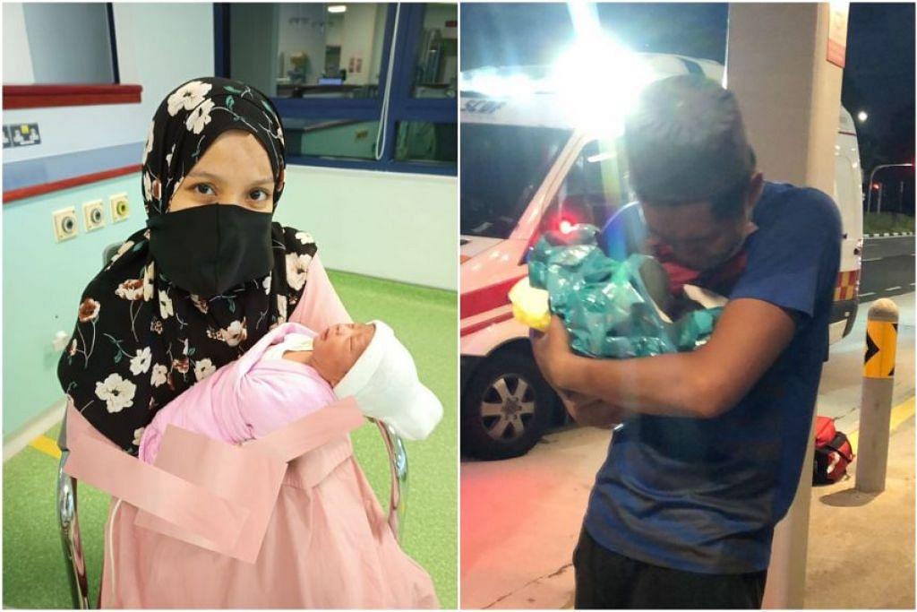 Encik Muhammad Annur Mohammed dan Cik Mardhiah Abdul Malek dengan bayi perempuan mereka. - Foto ihsan Muhammad Annur Mohammed